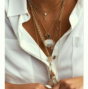 Anthropologie Reflection Pendant Necklace NWT